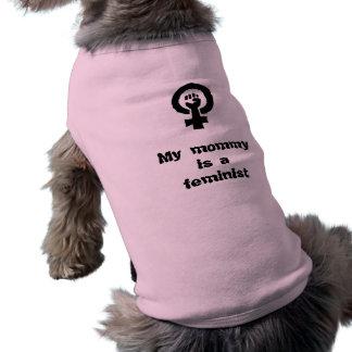 Min mamma är en feministisk hund tröja