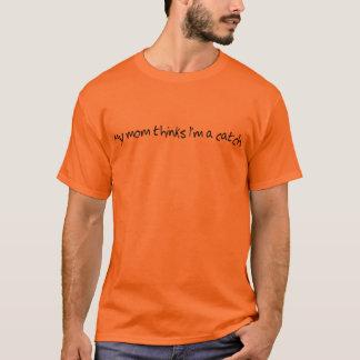 Min mammafunderare mig förmiddag en fångaskjorta tee shirt
