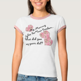 Min mammaslagsmål för din frihet t shirts