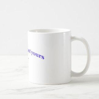 MIN MEME, INTE DIN - vitmugg Kaffemugg