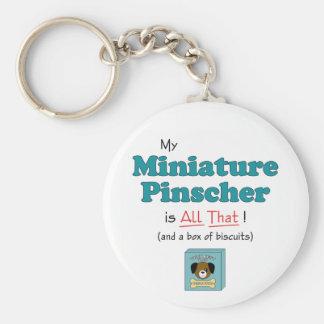 Min miniatyrPinscher är all det! Rund Nyckelring