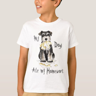 Min miniatyrSchnauzeråt min läxa T Shirt