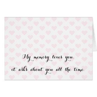 Min minneskärlekar. Elegant kärlek Fröcken citerar Hälsningskort