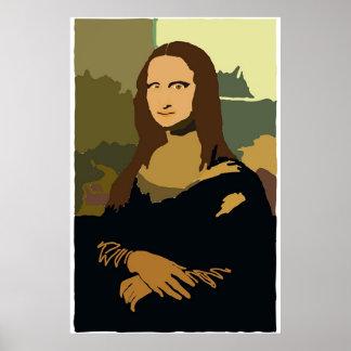 Min Mona Lisa Poster