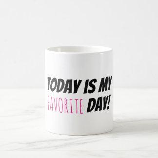 Min Motivational typografi för favorit- dag Kaffemugg