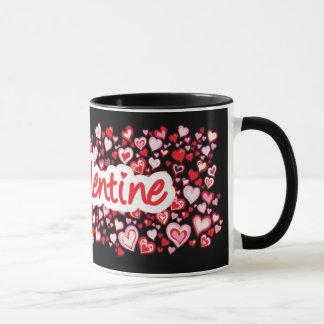 """""""Min mugg för svart för rosor för valentin"""" Mugg"""