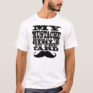 Min mustasch kommer med alla flickor t-shirts