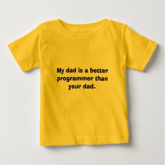 Min pappa är en bättre programmerare än din dad. t-shirt