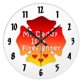 Min pappa är en brandman stor klocka