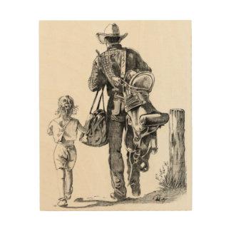 Min pappa är en Cowboy Trätavla