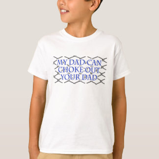 Min pappa kan kväva ut din pappa! Muttahida Tee Shirts