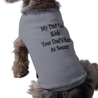 Min pappa kan sparka din pappa ända på fotboll långärmad hundtöja