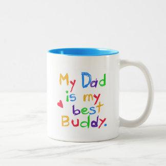 Min pappa min bäst kompisT-tröja och gåvor Två-Tonad Mugg