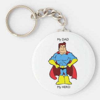 Min pappa min hjälteSuperHero Nyckel Ringar