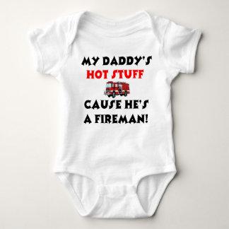 Min papporhettsaker, därför att han är en brandman t-shirt