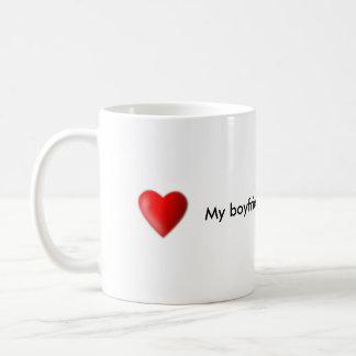 Min pojkvän är den bäst kaffemuggen vit mugg