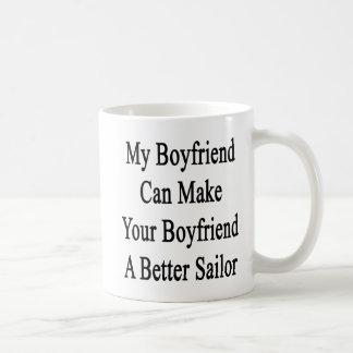 Min pojkvän kan göra din pojkvän ett bättre att vit mugg