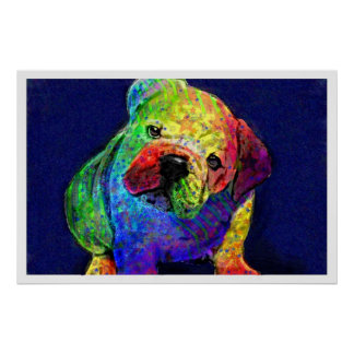 min psychedelic bulldogg poster