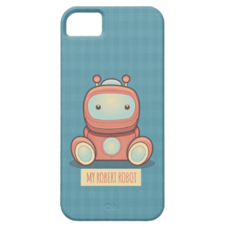 Min Robert robot iPhone 5 Cases