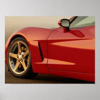Min röda Corvette Affischer