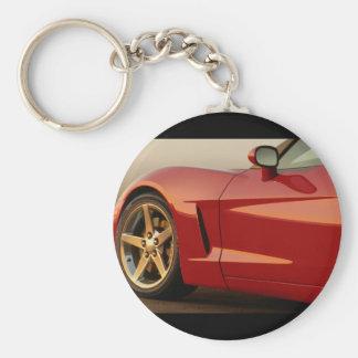 Min röda Corvette Nyckelring