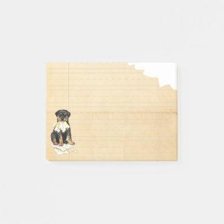 Min Rottweiler åt min läxa Post-it Block