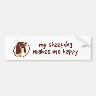 Min Sheepdog gör mig lycklig Bildekal