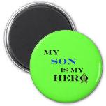 Min Son är min hjältemagnet Kylskåpsnagnet