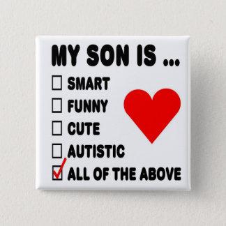 Min Son är… Standard Kanpp Fyrkantig 5.1 Cm