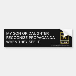Min son eller dotter känner igen propaganda bildekal