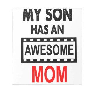 Min Son har en enorm mamma Anteckningsblock