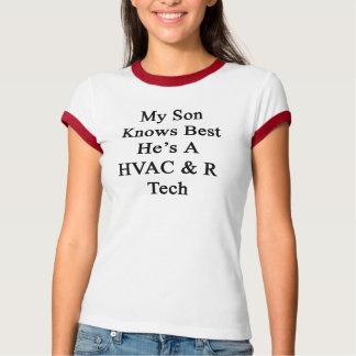 Min Son vet att bäst han är en Tech för HVAC R Tshirts