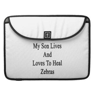 Min Sonliv och kärlekar för att läka zebror Sleeve För MacBook Pro