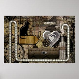 Min Steampunk hjärta Poster