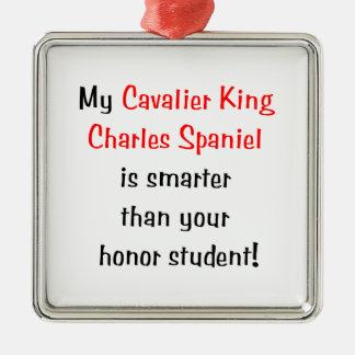 Min stolt Spaniel för kungen Charles är mer smart. Julgransprydnad Metall