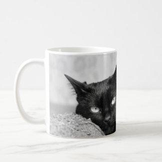 Min svart kattfotomugg kaffemugg