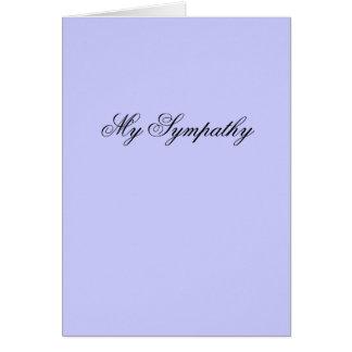 Min sympati hälsningskort