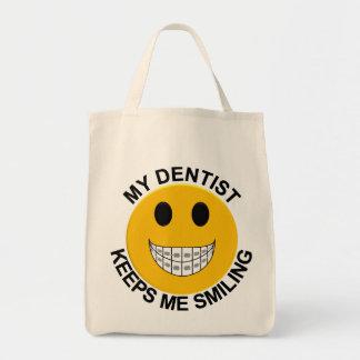 Min tandläkare håller mig att le stag - toto att h mat tygkasse