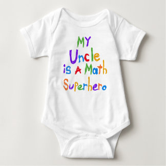 Min Uncle Math Superhero T-tröja och gåvor T Shirts