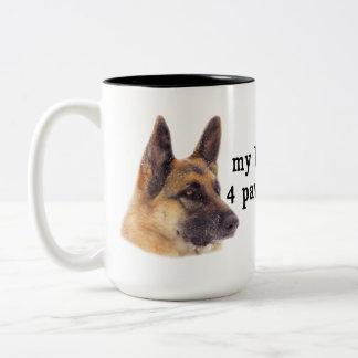 Min ungar är tysk shepherds Två-Tonad mugg