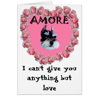 Min valentin Amore, kan jag inte ge dig något men Hälsningskort