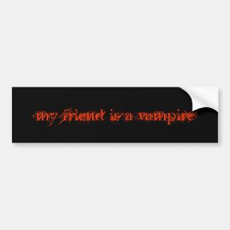 min vän är en vampyr bildekal
