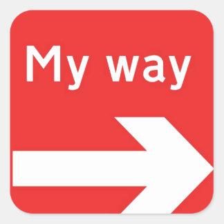 min way.jpg fyrkantigt klistermärke