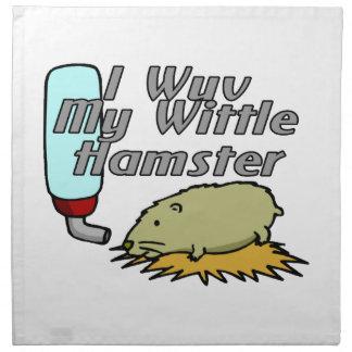 Min Wittle Hamster Tygservett