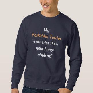 Min Yorkshire Terrier är mer smart… Lång Ärmad Tröja