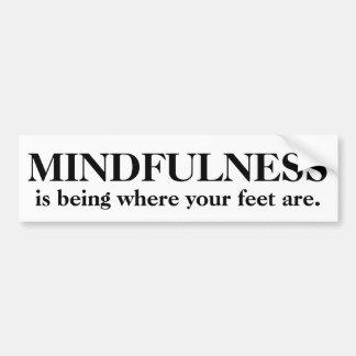 Mindfulness är var din fot är bildekal