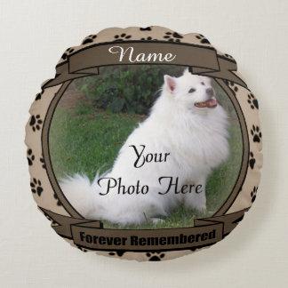 Minds älsklings- minnesmärke för hund eller för rund kudde