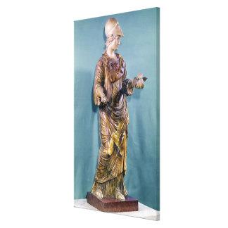 Minerva med en uggla, kopierar av ett 6eårhundrade canvastryck