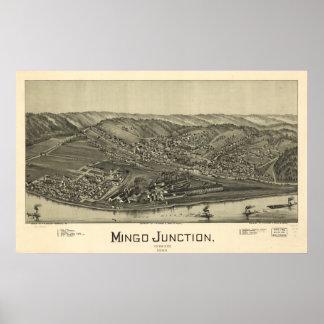 Mingo föreningspunkt Ohio 1899 antika panorama- Poster