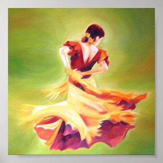 Mini- affisch för flamencodansare